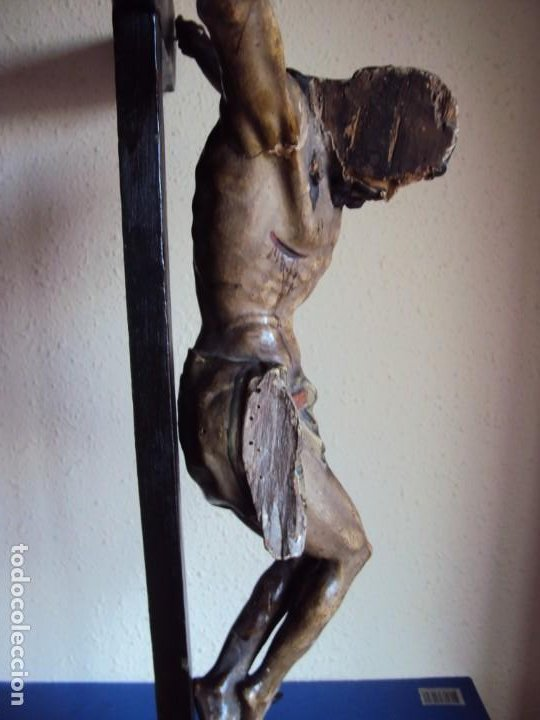 Arte: (ANT-191290)JESÚS CRUCIFICADO - TALLA DE MADERA POLICROMADA - CRISTO DOLIENTE - XVIII-XIX - GRANDE - Foto 39 - 189325518