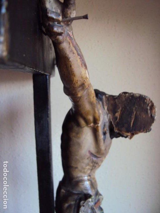 Arte: (ANT-191290)JESÚS CRUCIFICADO - TALLA DE MADERA POLICROMADA - CRISTO DOLIENTE - XVIII-XIX - GRANDE - Foto 40 - 189325518