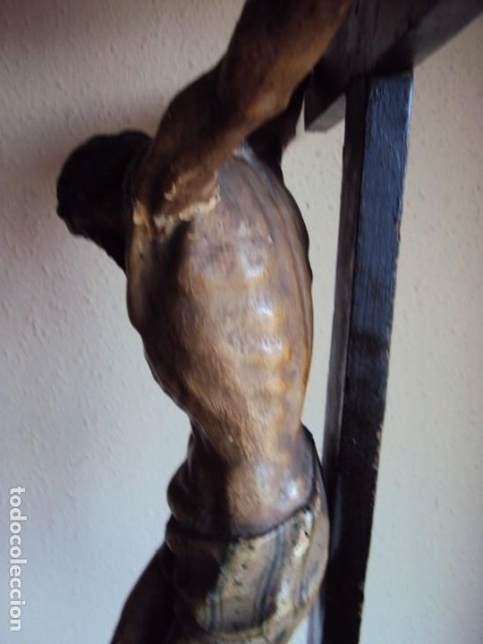 Arte: (ANT-191290)JESÚS CRUCIFICADO - TALLA DE MADERA POLICROMADA - CRISTO DOLIENTE - XVIII-XIX - GRANDE - Foto 41 - 189325518