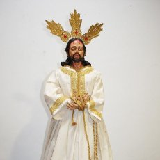 Arte: TALLA DE MADERA RELIGIOSA JESÚS CAUTIVO CON POTENCIAS. Lote 189354712