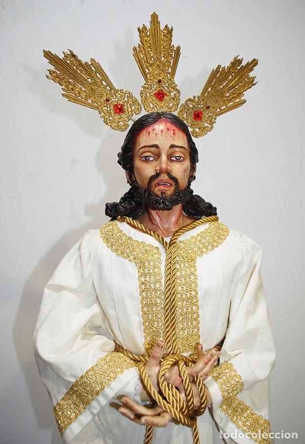 Arte: TALLA DE MADERA RELIGIOSA JESÚS CAUTIVO CON POTENCIAS - Foto 2 - 189354712