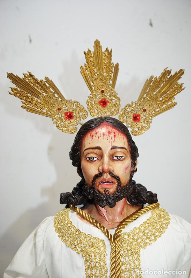 Arte: TALLA DE MADERA RELIGIOSA JESÚS CAUTIVO CON POTENCIAS - Foto 3 - 189354712