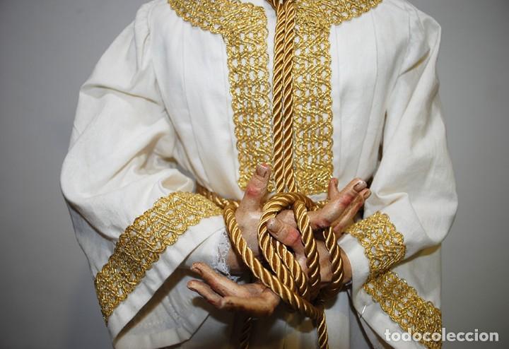 Arte: TALLA DE MADERA RELIGIOSA JESÚS CAUTIVO CON POTENCIAS - Foto 5 - 189354712