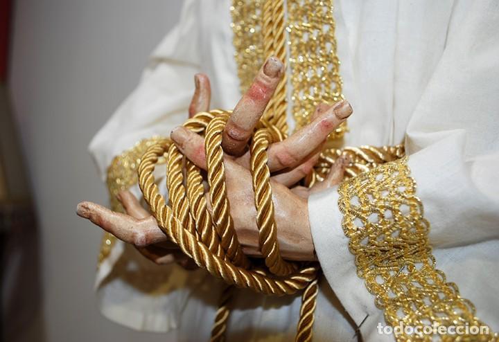 Arte: TALLA DE MADERA RELIGIOSA JESÚS CAUTIVO CON POTENCIAS - Foto 6 - 189354712