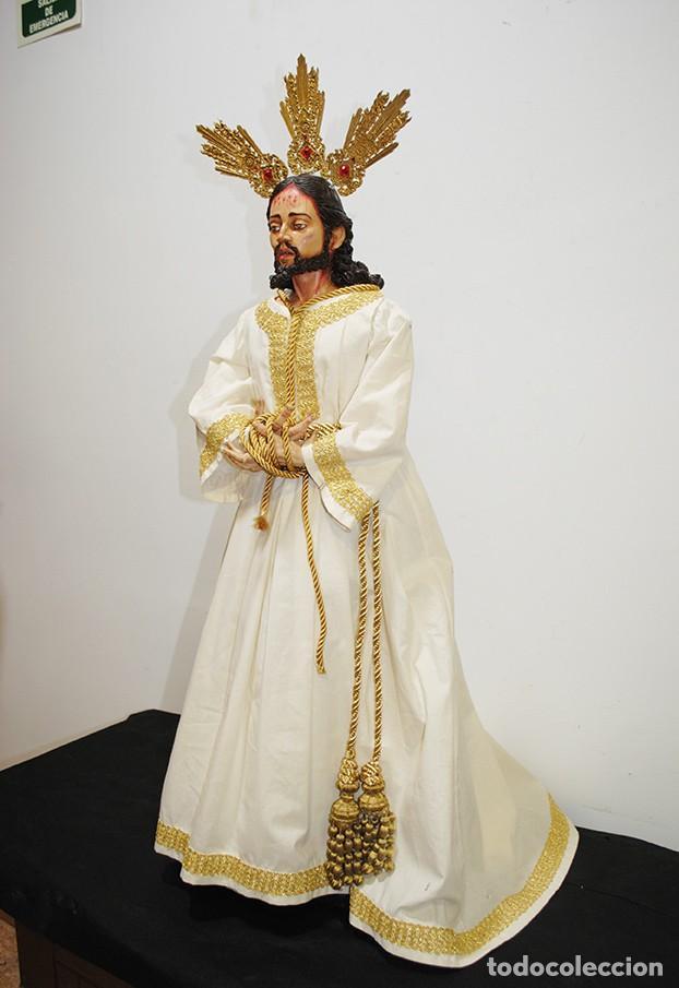 Arte: TALLA DE MADERA RELIGIOSA JESÚS CAUTIVO CON POTENCIAS - Foto 11 - 189354712