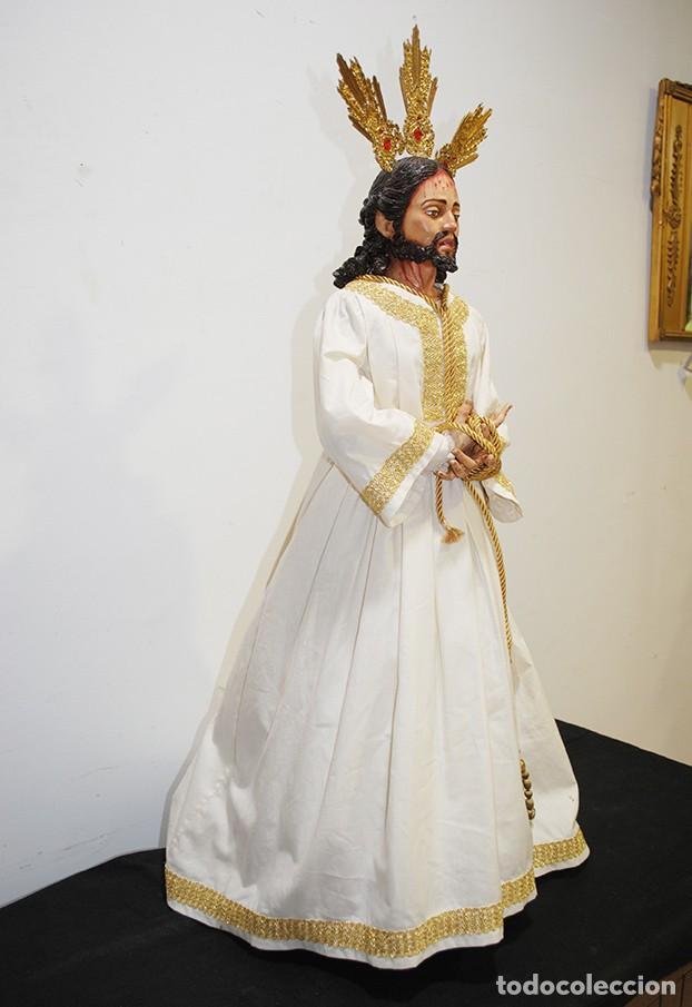 Arte: TALLA DE MADERA RELIGIOSA JESÚS CAUTIVO CON POTENCIAS - Foto 12 - 189354712