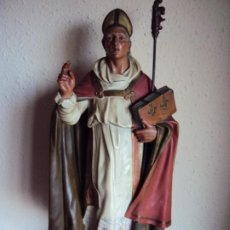Arte: (ANT-191287)SAN BLAS - PASTA DE MADERA - OJOS DE CRISTAL - CIRCA 1920 - OLOT. Lote 189487832