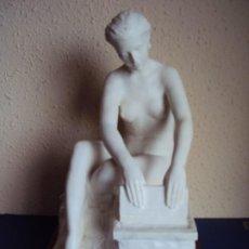 Arte: (ANT-191267)FIGURA DE ALABASTRO LAVANDERA - AMADEO RUÍZ OLMOS , ESCULTOR DE MANOLETE. Lote 189489298