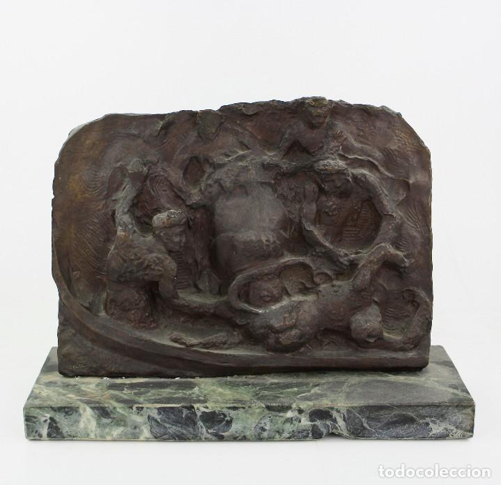 MANOLO HUGUÉ (1872-1945) ESCULTURA EN BRONCE 31X23 CM. VER FOTOS ANEXAS. (Arte - Escultura - Bronce)
