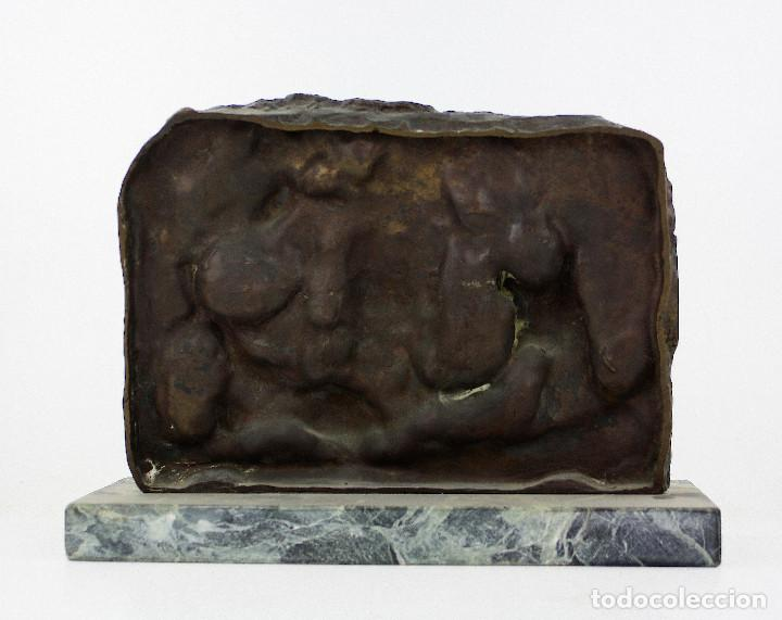 Arte: MANOLO HUGUÉ (1872-1945) ESCULTURA EN BRONCE 31x23 cm. ver fotos anexas. - Foto 4 - 189734792