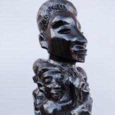 Arte: ÉBANO. TALLA MAKONDE TANZANIA. ÁRBOL DE LA VIDA.. Lote 190055818