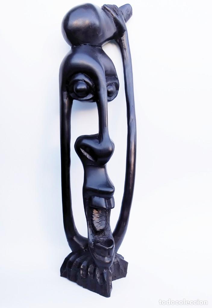 ÉBANO. TALLA MAKONDE TANZANIA. SHETANI. (Arte - Escultura - Madera)