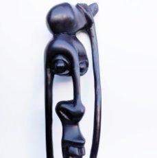 Arte: ÉBANO. TALLA MAKONDE TANZANIA. SHETANI.. Lote 190057786
