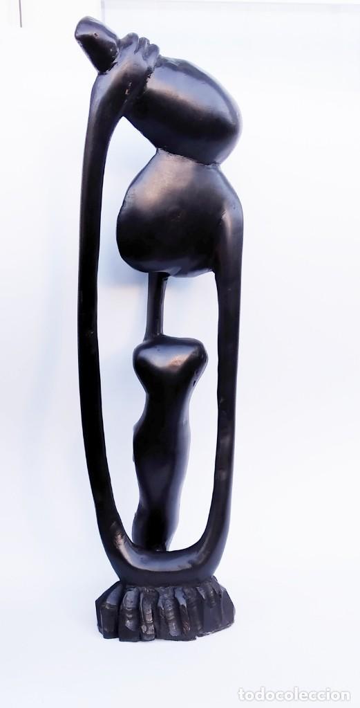 Arte: Ébano. Talla makonde Tanzania. Shetani. - Foto 2 - 190057786