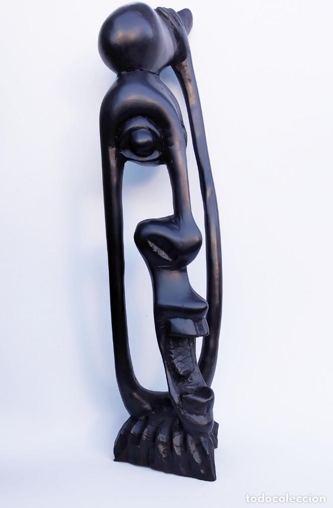 Arte: Ébano. Talla makonde Tanzania. Shetani. - Foto 3 - 190057786
