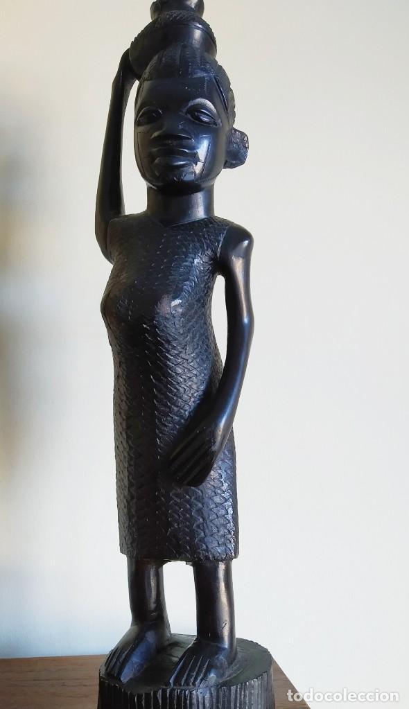 ÉBANO. TALLA MAKONDE TANZANIA. 40CM. (Arte - Escultura - Madera)