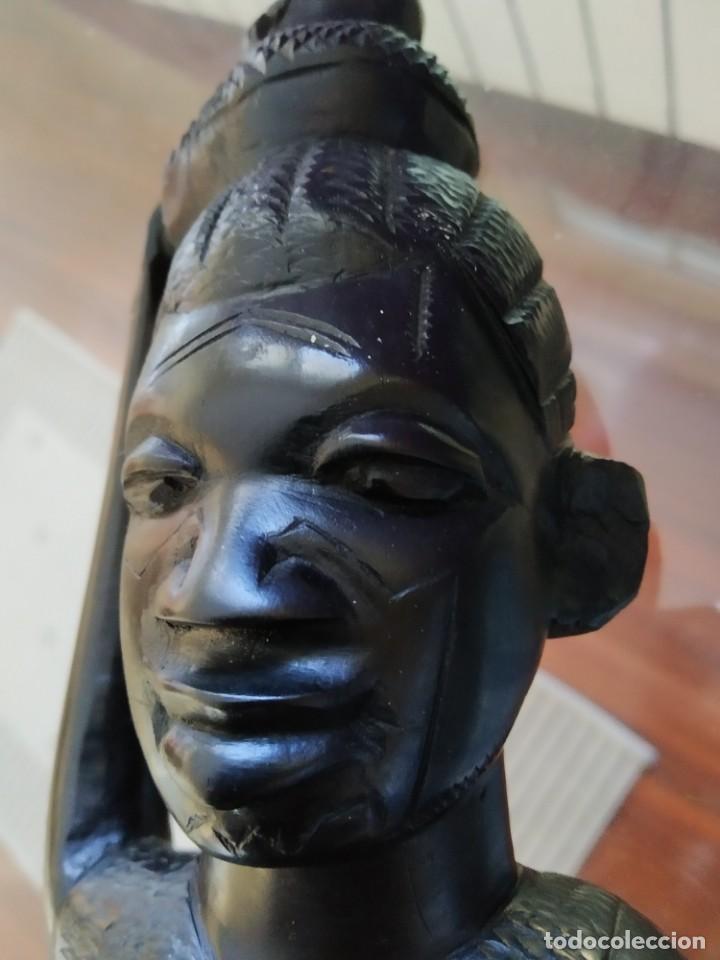 Arte: Ébano. Talla makonde Tanzania. 40cm. - Foto 2 - 190059610
