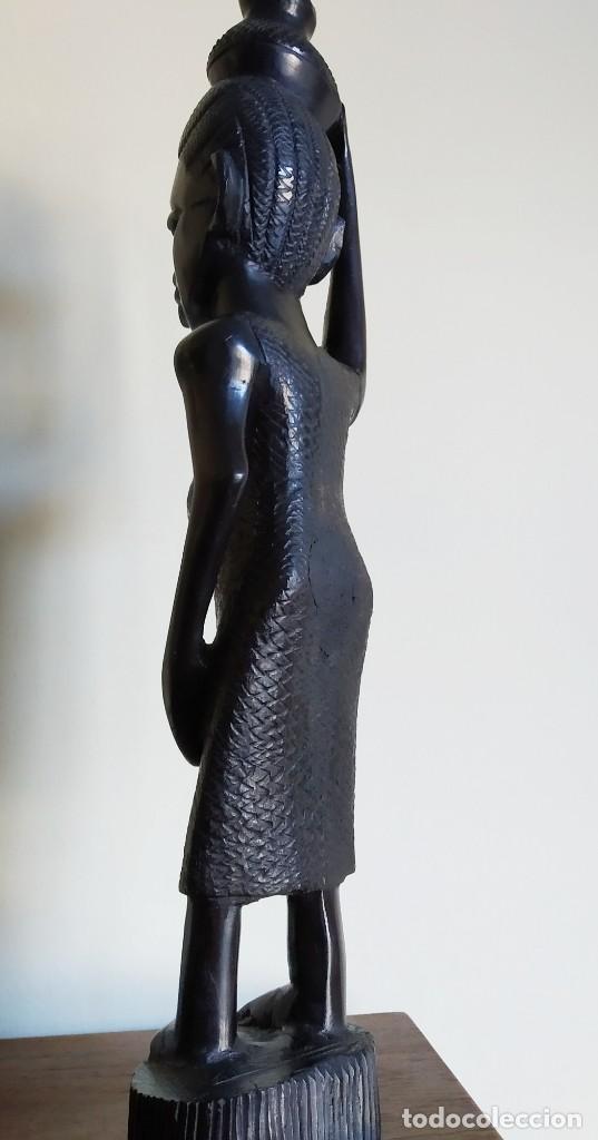 Arte: Ébano. Talla makonde Tanzania. 40cm. - Foto 3 - 190059610