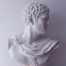 Arte: BUSTO EMPERADOR ROMANO OCTAVIO. ESCUELA ITALIANA. SIGLO XIX. GRAN DIMENSIÓN.. Lote 190118177
