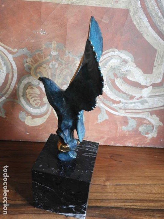 Arte: ESCULTURA DE BRONCE DE UNA PAJARO SOBRE MARMOL - Foto 3 - 190145071