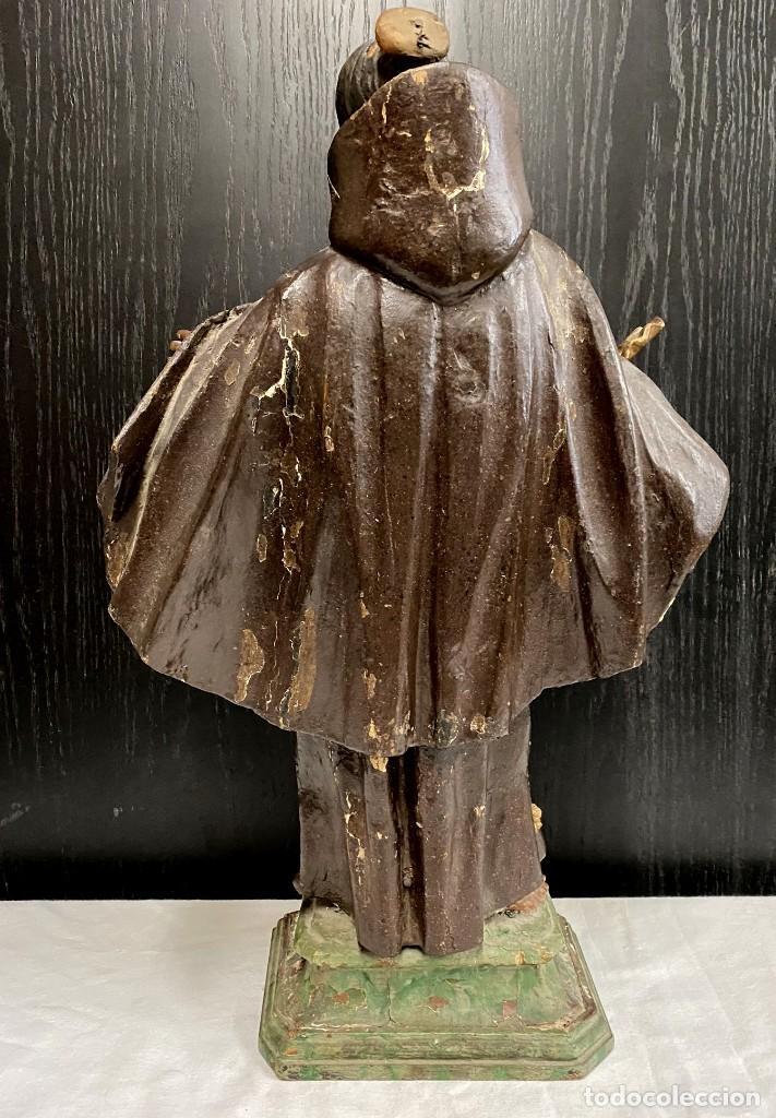 Arte: Soberbio San Pascual Bailón de madera tallada y policromada. Siglo XVII. Con custodia. 53 cm alto. - Foto 2 - 190600002