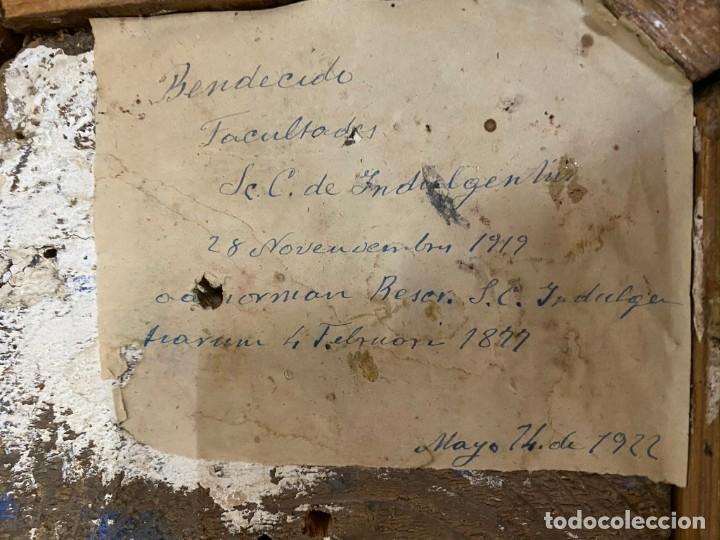 Arte: Soberbio San Pascual Bailón de madera tallada y policromada. Siglo XVII. Con custodia. 53 cm alto. - Foto 3 - 190600002