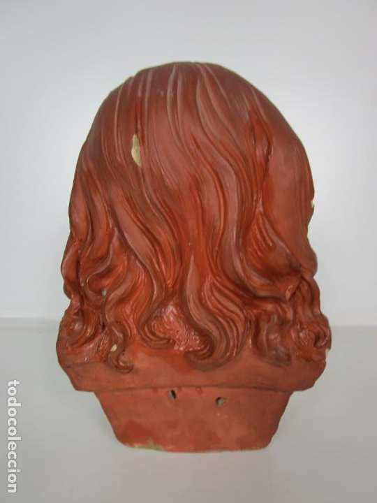Arte: Preciosa Escultura - Busto de Niña - Gustavo Obiols de Delgado (1858-fl. 1902) - Data 1878 - Foto 12 - 190798723