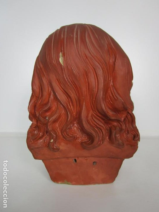 Arte: Preciosa Escultura - Busto de Niña - Gustavo Obiols de Delgado (1858-fl. 1902) - Data 1878 - Foto 15 - 190798723