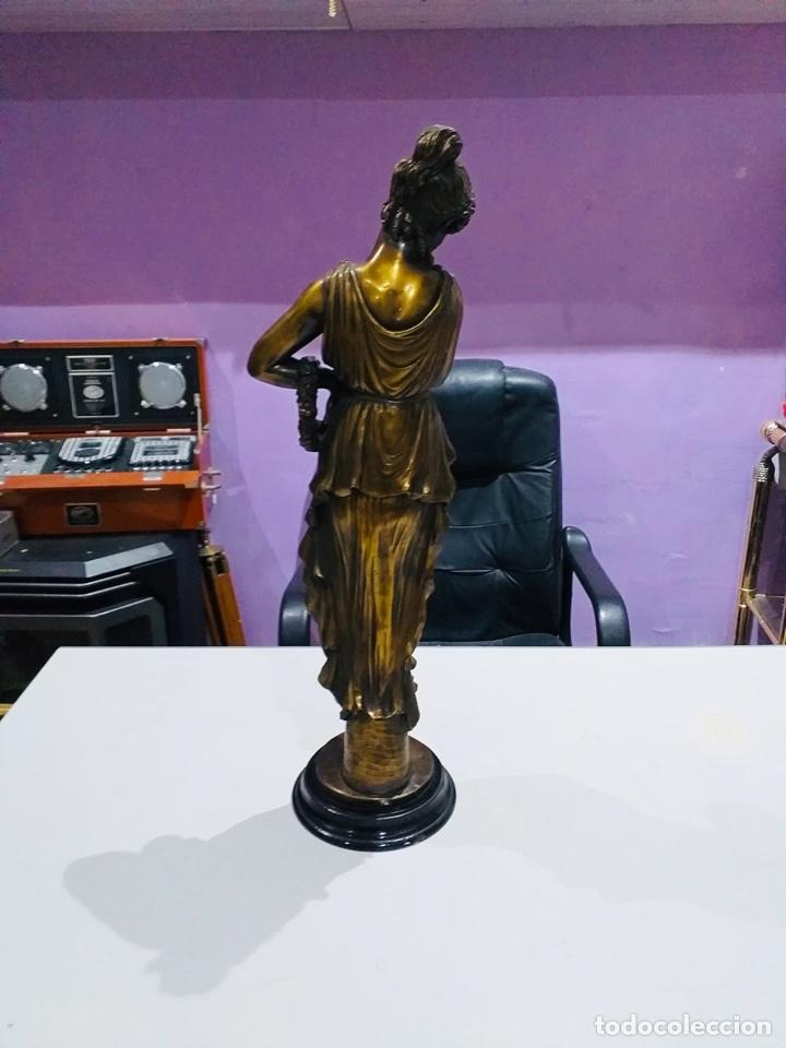Arte: Antigua escultura resina grandes dimensiones-67 cm-ver las fotos - Foto 4 - 190877592