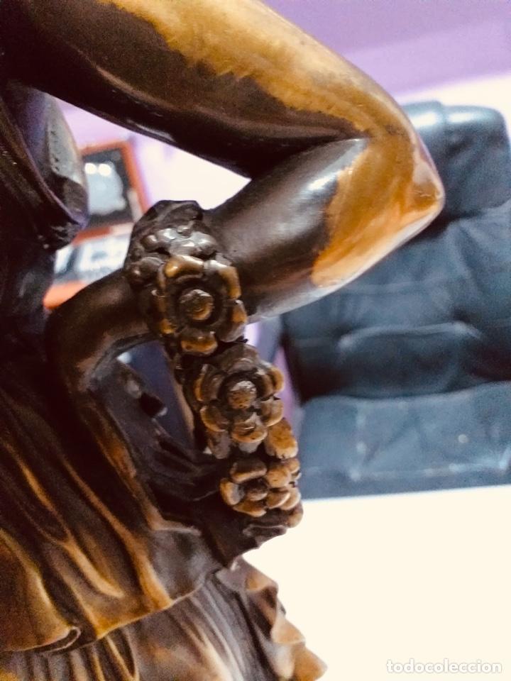 Arte: Antigua escultura resina grandes dimensiones-67 cm-ver las fotos - Foto 12 - 190877592