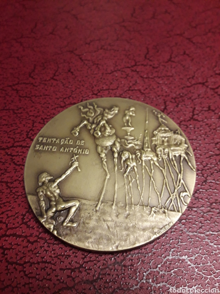 Arte: Medallon de bronce Salvador Dali - Foto 2 - 191003063