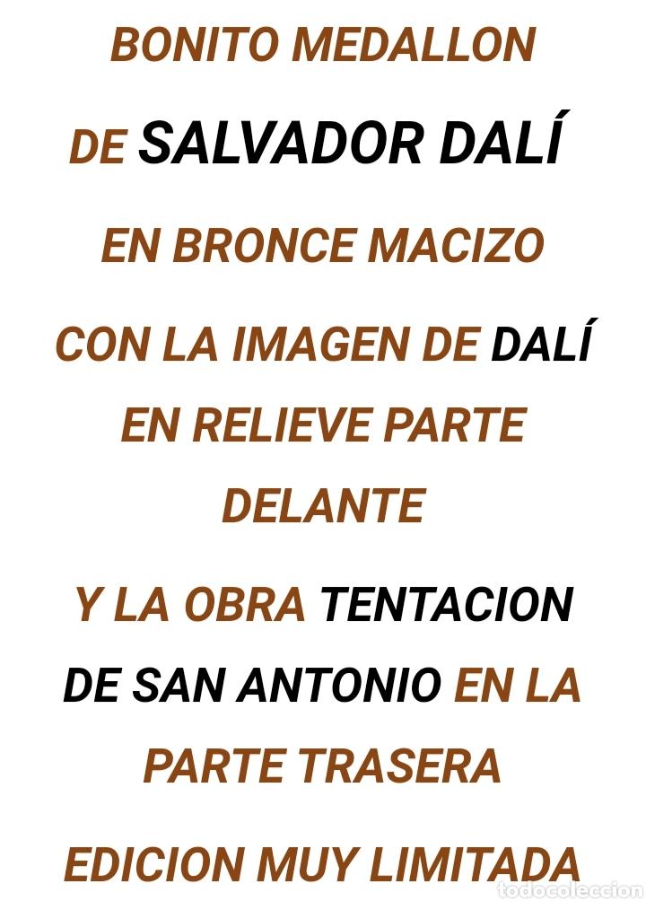 Arte: Medallon de bronce Salvador Dali - Foto 4 - 191003063