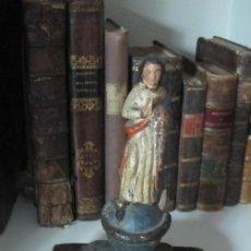 Arte: TALLA DE MADERA VIRGEN PISANDO LA SERPIENTE SIGLO XVII. Lote 191402271