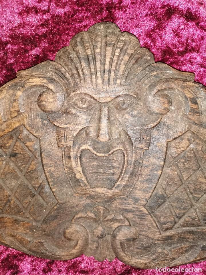 Arte: Preciosa talla sobre madera, diablo. Siglo XIX - Foto 2 - 191760463