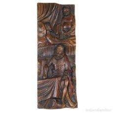 Arte: BAJORELIEVE DE CERVANTES, DON QUIJOTE Y SANCHO PANZA. Lote 191815432
