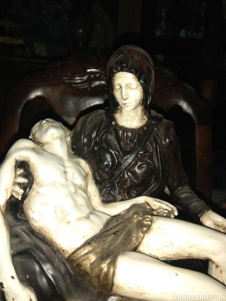 Arte: Figura Religiosa Piedad de Miguel Angel - Porcelana Biscuit - The Franklin Mint 1989 - - Foto 3 - 191916265