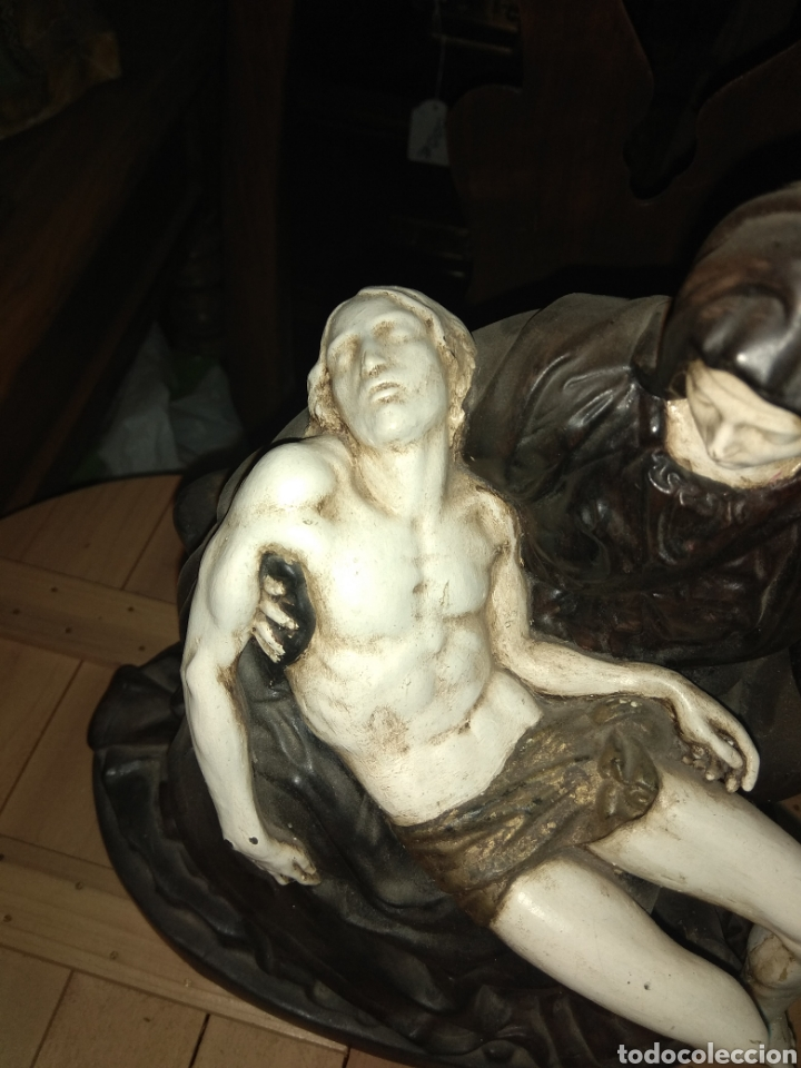 Arte: Figura Religiosa Piedad de Miguel Angel - Porcelana Biscuit - The Franklin Mint 1989 - - Foto 4 - 191916265