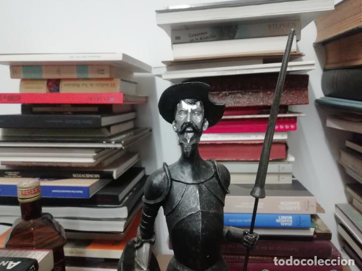 Arte: ESPECTACULAR FIGURA DE GRAN TAMAÑO EN RESINA DEL QUIJOTE DE LA MANCHA . 48 CM. TODO UNA JOYA!!! - Foto 2 - 191932798