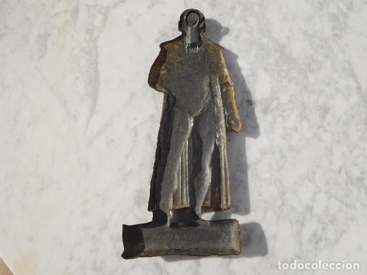 Arte: Figura antigua de bronce para colgar de Gutenberg imprenta - Foto 5 - 192147850