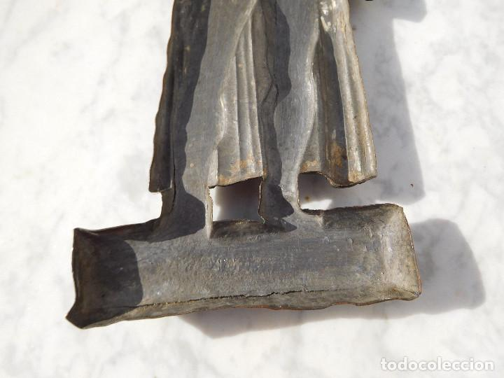 Arte: Figura antigua de bronce para colgar de Gutenberg imprenta - Foto 6 - 192147850