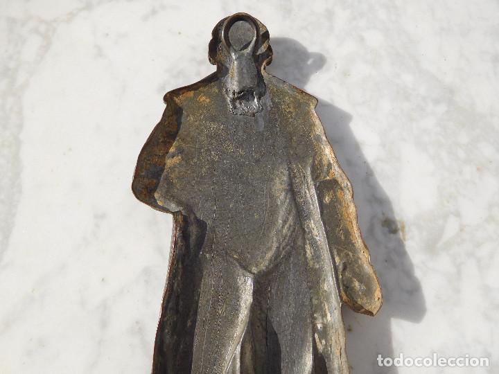Arte: Figura antigua de bronce para colgar de Gutenberg imprenta - Foto 7 - 192147850