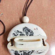 Arte: CAJITA DEL JAPON PARA TRANSPORTAR AL CUELLO DE 4,5 CM DIAMETRO X 1,5 CM DE ANCHO.. Lote 192589573