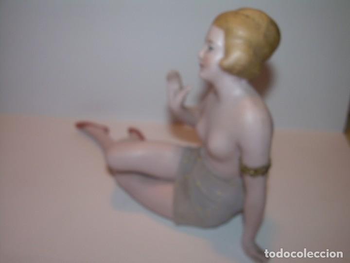 Arte: ANTIGUA FIGURA DE PORCELANA O BISCUIT DESNUDO EROTICO.... SIGLO XIX.... PERFECTO ESTADO SIN GOLPES. - Foto 7 - 192731360