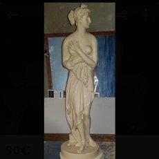 Arte: ESCULTURA DIOSA VENUS Y PEANA MÁRMOL. Lote 192842768
