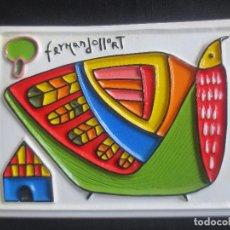 Arte: AZULEJO DEL ARTISTA SALVADOREÑO FERNANDO LLORT ESTILO PALMEÑO. Lote 192882766