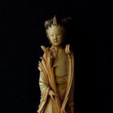 Arte: DAMA CHINA TALLADA EN MARFIL. Lote 192921753