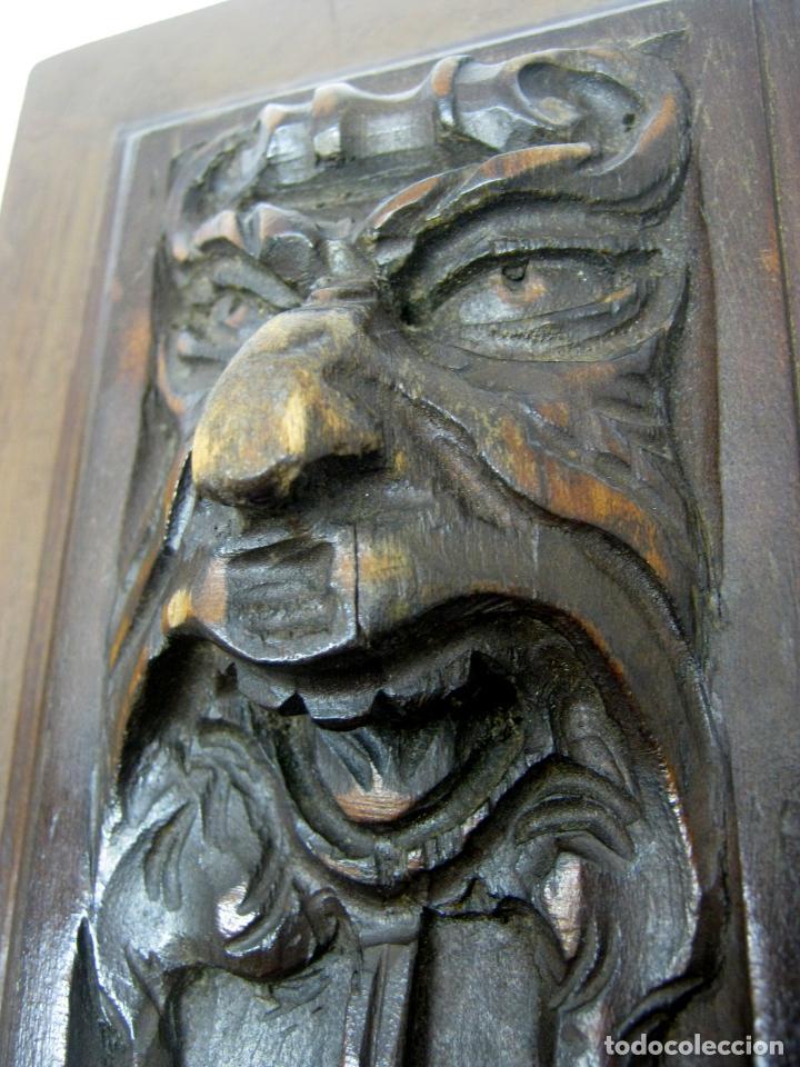 Arte: Pareja de plafones antiguos tallados en madera - alegorias teatro neoclasico B - Foto 2 - 193179138