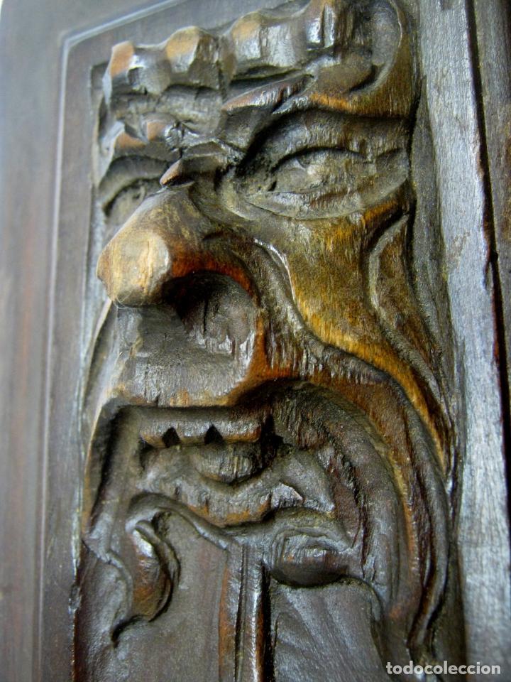 Arte: Pareja de plafones antiguos tallados en madera - alegorias teatro neoclasico B - Foto 3 - 193179138