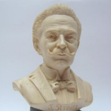 Arte: BUSTO JOHANN STRAUSS (1825-1899) - ESCULTURA FIRMADA Y DATADA 1972. Lote 193184230