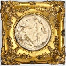 Arte: EDWAND WILLIAM WYON - OBERÓN Y TITANIA - 1848 - MEDALLÓN DE MARMOL Y MARCO EN PAN DE ORO SIGLO XIX. Lote 193230995